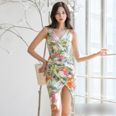 セクシー ナイトドレス  ワンピースドレス アシンメトリーデザインリボンモチーフワンピースドレスレイミー パーティードレス ミニドレス
