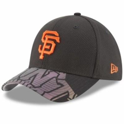 New Era ニュー エラ スポーツ用品  New Era San Francisco Giants Black Flow Flect Logo 39THIRTY Flex Hat