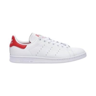 (取寄)アディダス スニーカー メンズ オリジナルス スタン スミス Men's adidas Originals Stan Smith White White Lush Red