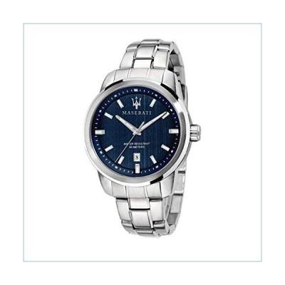 MASERATI Men's SUCCESSO Quartz Stainless-Steel Strap, Silver, 20 Casual Watch (Model: R8853121004)並行輸入品