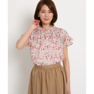 SunaUna / スーナウーナ 【洗える】小花プリント ハイネックシャツ