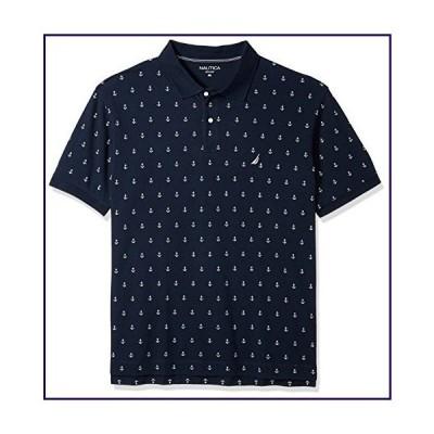 Nautica Men's Big Classic Short Sleeve Solid Deck Polo Shirt, Navy, LT Tall【並行輸入品】