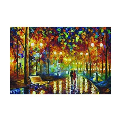 Agirlgle Jigsaw Puzzles 1000 Pieces for Adults for Kids-Rainy Night WalkEve