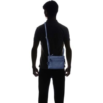 アブソリュート ゼロ 本革サコッシュL(横型) ABSOLUTE ZERO カジュアルサコッシュ 縦型 前面ポケット ブルー