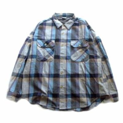 【中古】ビッグマック BIG MAC オーバーサイズ チェック シャツ カットソー L グレー×マルチ メンズ♪4