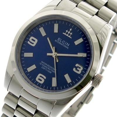 エルジン ELGIN 腕時計 メンズ FK1421S-BL 10YEARS クォーツ ブルー シルバー