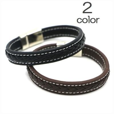 ブレスレット バングル メンズ アメリカン レザー レザー風 編組 パンク シンプル ブラック ブラウン アクセサリー メンズ ファッション ファッシ