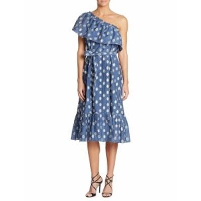 ショーシャンナ レディース ワンピース One-Shoulder Clip Dot Midi Dress