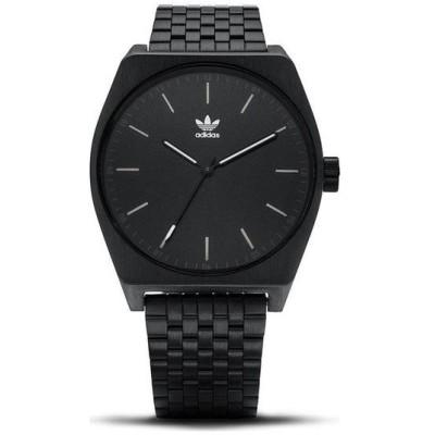 アディダス メンズ レディース 男女兼用 プロセス シンプル 黒 オールブラック ステンレス ブレスレットウォッチ CJ6336 Z02001-00 あすつく 腕時計