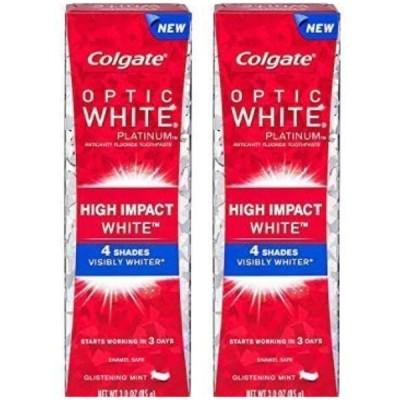 2個 歯磨き粉 コルゲート 100g×2 オプティックホワイトプラスシャイン コルゲイト セルフ 歯のホワイトニング 黄ばみ やに 歯周病 海外製 タイ 並行輸入