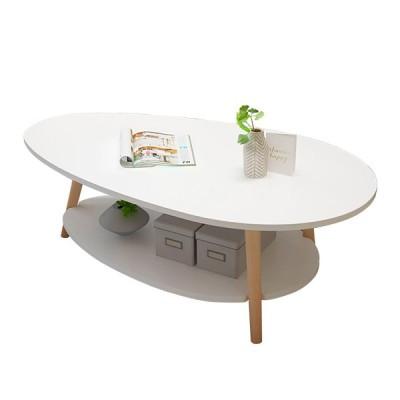 [大理石]二層コーヒーテーブルモダンなラップトップデスクリビングルームラウンドテーブルライティングスタディテーブル収納ラック棚