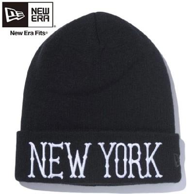 ニューエラ ニットキャップ ベーシックカフニット ニューヨーク ブラック ブラック New Era Knit Cap Bacic Cuff Knit New York Black Black