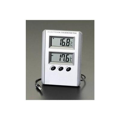 エスコ EA728AC-13A  室内・室外 最高・最低温度計 EA728AC13A【キャンセル不可】
