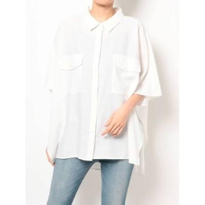 【THE DAYZ TOKYO】リネンライクポンチョシャツ