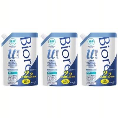 (3個セット)ビオレu ザボディ 液体タイプ ピュアリーサボン つめかえ用 750ml 花王株式会社 ボディウォッシュ ボディソープ ボディシャン