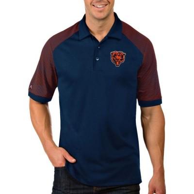アンティグア Antigua メンズ ポロシャツ トップス Chicago Bears Orange Engage Polo