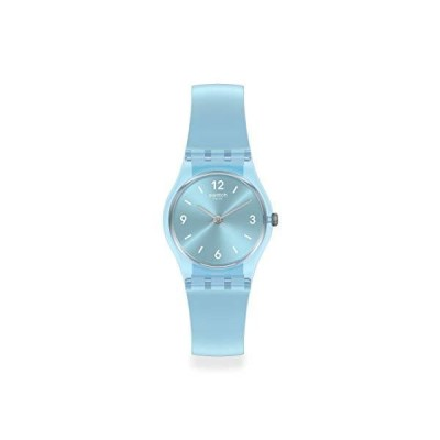 腕時計 スウォッチ レディース LL123 Swatch Women's Lady Swiss Quartz Silicone Strap, Blue, 12 Casu