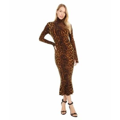 カマリカルチャー ワンピース トップス レディース Long Sleeve Turtle Fishtail Dress To Midcalf Pantera