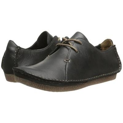 クラークス Janey Mae レディース オックスフォード Black Leather