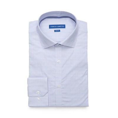 ヴィンスカムート メンズ シャツ トップス Slim Fit Plaid Dress Shirt