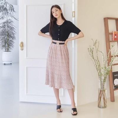 TWEE レディース スカート Mercy Belt SET Pleated Banding Skirt