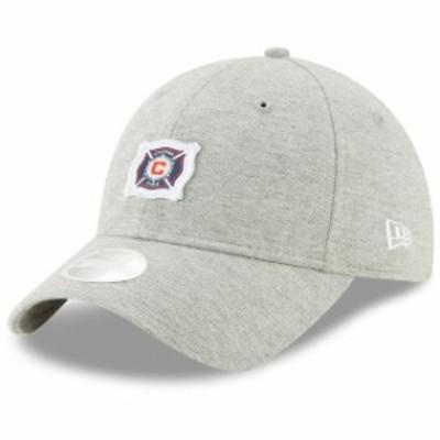 New Era ニュー エラ スポーツ用品  New Era Chicago Fire Womens Gray Preppy Team 9TWENTY Adjustable Hat