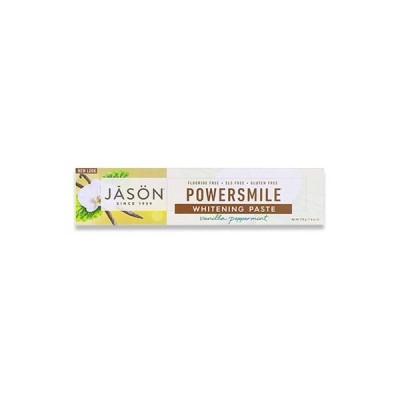 [NEW]Jason Natural パワースマイル アンチプラーク&ホワイトニング 歯磨き粉 バニラパワーミント 170g(6oz) ジェイソンナチュラル