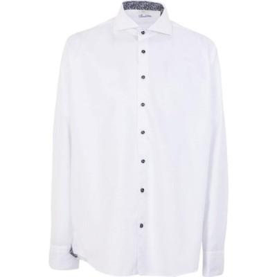 ステンストローム STENSTROMS メンズ シャツ トップス Solid Color Shirt White