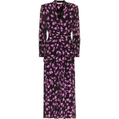 ドロシー シューマッハ Dorothee Schumacher レディース ワンピース ミドル丈 ワンピース・ドレス Radiant Leaves silk-blend midi dress Pink on Black X/Ray