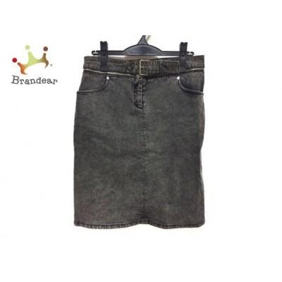 セリーヌ CELINE スカート サイズ42 L レディース 美品 黒 デニム   スペシャル特価 20200905