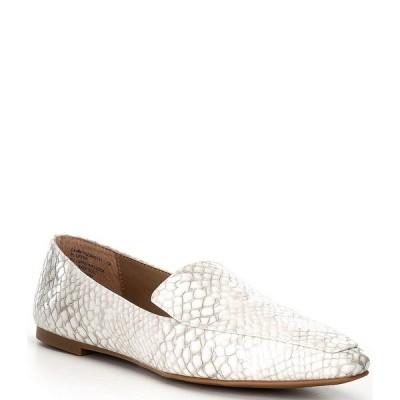 スティーブ マデン レディース サンダル シューズ Gemmy Animal Print Loafers White/Grey