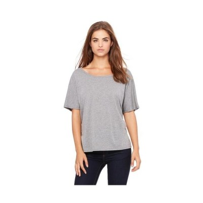 レディース 衣類 トップス Bella Canvas Women's Slouchy Curved Scoop Neck T-Shirt Style B8816 Tシャツ