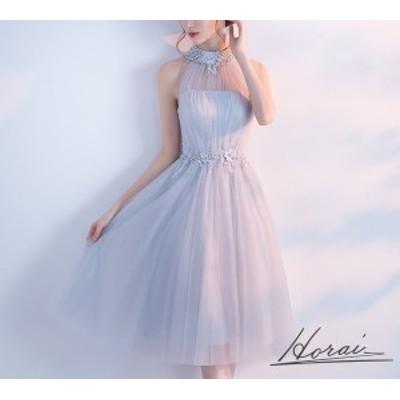 チュールワンピース パーティードレス 結婚式 大きいサイズ 透け感 ドレス ノースリーブ パーティドレス シースルー ワンピース 清楚