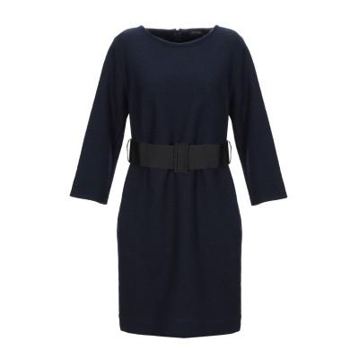 ANTONELLI ミニワンピース&ドレス ダークブルー 48 バージンウール 100% ミニワンピース&ドレス