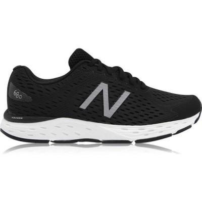 ニューバランス New Balance レディース ランニング・ウォーキング シューズ・靴 680 V6 Wide Fit Running Shoes Black/White