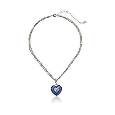 1928 Jewelry エナメル ハートとスワロフスキークリスタル ペンダントネックレス One Size【並行輸入品】