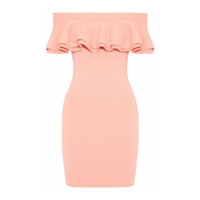LINE ミニワンピース&ドレス ライトピンク M レーヨン 75% / ナイロン 15% / ポリウレタン 10% ミニワンピース&ドレス
