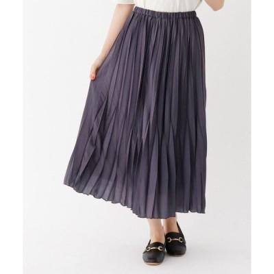 THE SHOP TK / ザ ショップ ティーケー サテンプリーツスカート/ONSTYLE