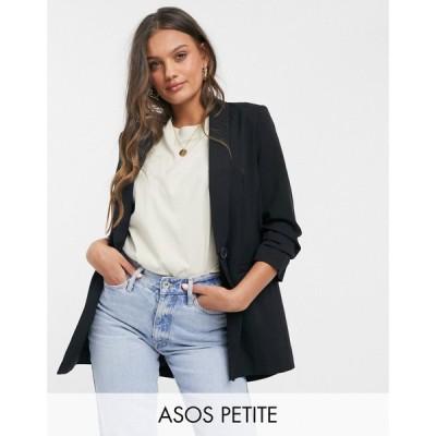 エイソス ASOS Petite レディース スーツ・ジャケット アウター ASOS DESIGN Petite mix & match suit blazer ブラック
