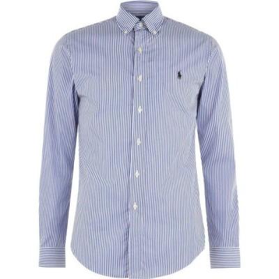 ラルフ ローレン Polo Ralph Lauren メンズ シャツ スリム トップス Stripe Poplin Slim Fit Shirt Blue/White