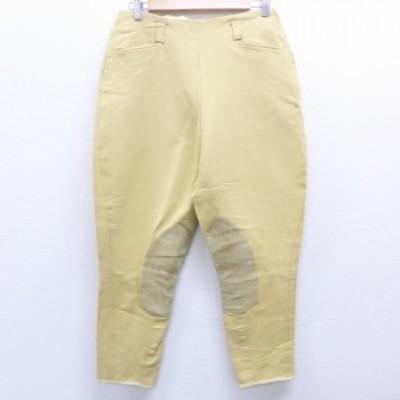 古着 レディース ジョッパーズ パンツ 80年代 80s スエード使用 ベージュ系 カーキ 中古 ボトムス パンツ 古着