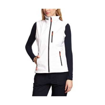 【新品】Helly Hansen Women's Crew Vest Waterproof, Windproof, & Breathable Sailing Vest, 001 White, Large