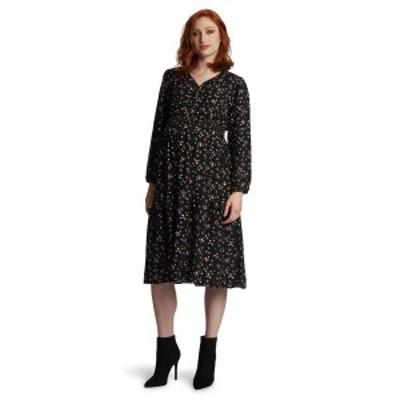エベリーグレイ レディース ワンピース トップス Jenny Maternity/Nursing Dress Black Floral
