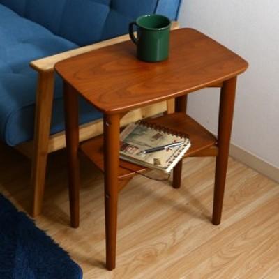 サイドテーブル 高さ53cm 木製 テーブル ラック 机 つくえ デスク コンパクト ( ソファテーブル ベッドサイドテーブル ミニテーブル 棚