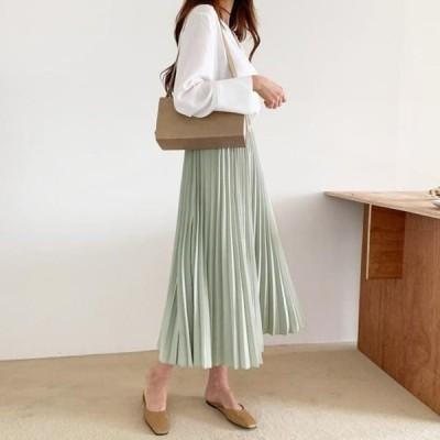 ENVYLOOK レディース スカート AVIN pleats long skirt