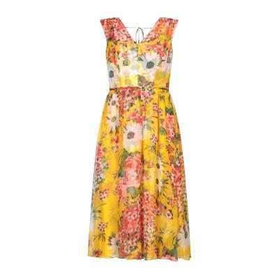 CAROLINA HERRERA 7分丈ワンピース・ドレス イエロー 4 シルク 100% 7分丈ワンピース・ドレス