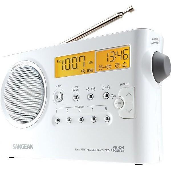 山進 SANGEAN 二波段數位式時鐘收音機調頻 / 調幅 PR-D4