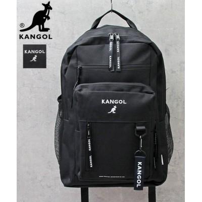 (AMS SELECT/エーエムエスセレクト)【KANGOL/カンゴール】マルチファンクショナルバックパック(大)/ストラップ付/ユニセックス ブラック