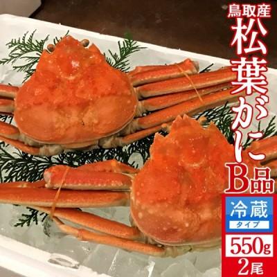 かに 訳あり 松葉がに[B品]中550g×2尾セット 浜ゆで松葉蟹 ゆでがに 鳥取県産 通販直送 マツバガニ わけあり 日本海ズワイガニ