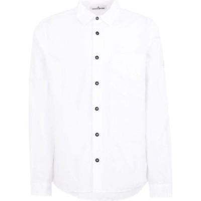 ストーンアイランド STONE ISLAND メンズ シャツ トップス Solid Color Shirt White